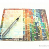 Postage Stamp Writing Paper Set, A5 - Optional pen and gift box