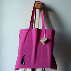 SALE: Penguin Canvas Tote Bag Origami Cotton Penguin