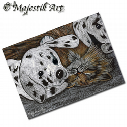 ACEO Print Tabby Cat NICE AND WARM Animal