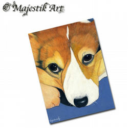 ACEO Print Corgi Puppy Dog Animal Companion Pet I DIDN'T