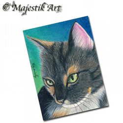 ACEO Print Tabby Cat Feline Animal Pet CONTENT