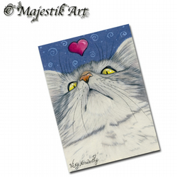 ACEO Print Maine Coon Cat Pet Animal Love MY HEART