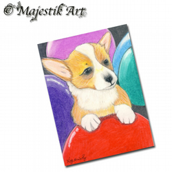 ACEO Print Welsh Corgi Puppy Pet Animal Dog MY PARTY