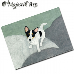 ACEO Print Puppy ENDEARING Pet Animal Jack Russell Dog