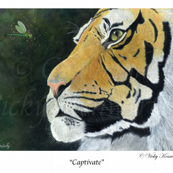 "Tiger Fine art Print 8"" x 10"" Archival CAPTIVATE Dragonfly Wildlife"