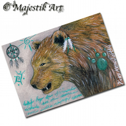 ACEO Print Bear Native American Art TAIMA