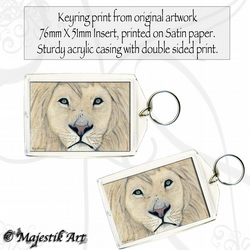 Lion Animal Keyring IN THE WARS Wildlife Big Cat