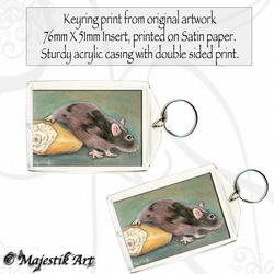 Mouse Rodent Keyring BREAD Animal Pet