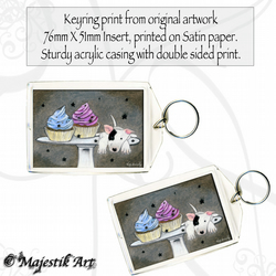 Bull Terrier Keyring CUPCAKE Pet Animal Dog Puppy