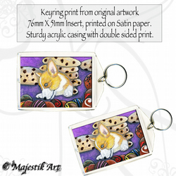 Corgi Puppy Keyring CHOC HEAVEN Pet Animal Dog