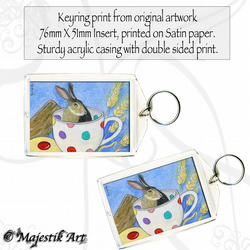 Wildlife Keyring MARCH HARE Animal Fantasy