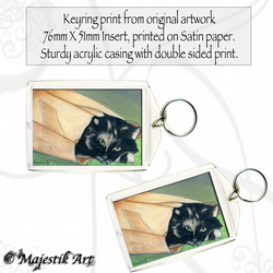 Kitten Cat Keyring SHOPPING Animal Pet Feline