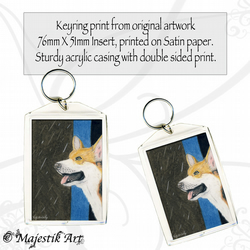 Corgi Dog Keyring RAINING Animal Pet