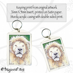 Lion Wildlife Keyring REGAL Animal Big Cat