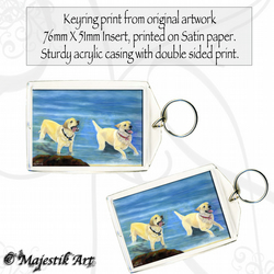 Golden Labrador Keyring HOLIDAY Animal Pet Dog
