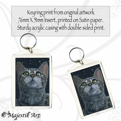 Tabby Cat Keyring IT'S STARTING Animal Pet Cat