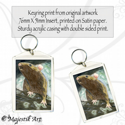 Rat Rodent Keyring CAN YOU SEE ME? Animal