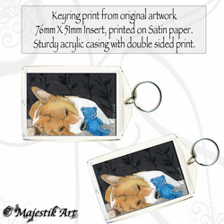 Corgi Dog Keyring SNUGGLES Animal Teddy