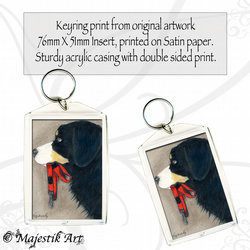Bernese Mountain Dog Keyring WALKIES Animal Pet