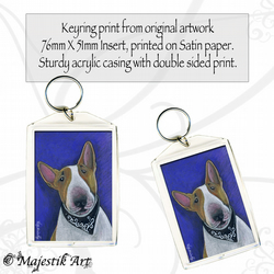 Dog Animal Keyring ADORABLE English Bull Terrier