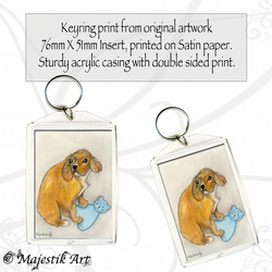 Cavalier King Charles Spaniel Keyring MY TEDDY Dog Puppy