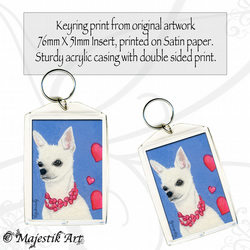 Chihuahua Keyring LOVE ME Dog Animal