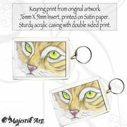 Ginger Cat Keyring WELL FINE Animal Pet Feline