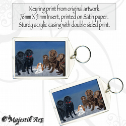 Dog Puppy Keyring FAMILY KNOWS NO BREED Animal Pet