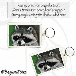 Raccoon Keyring IT'S ME Racoon Animal