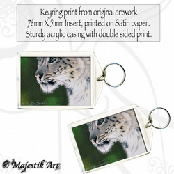 Snow Leopard Keyring GLIMPSE Feline Wildlife Big cat