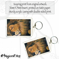 Lion Keyring LION SLEEPS TONIGHT Feline Wildlife Big cat