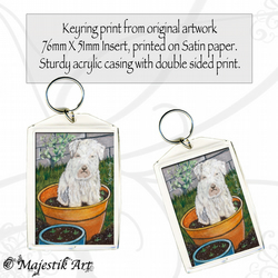 Puppy Dog Keyring MUCKY PUP Pet Animal