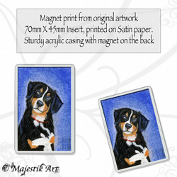 Bernese Mountain Dog Magnet HELLO Animal Pet VK
