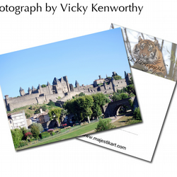 Carcassone ACEO Print Photography by VK