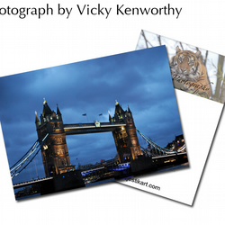 Tower Bridge ACEO Print Photography by VK