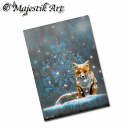 ACEO Print Winter Fox Art DRIFT