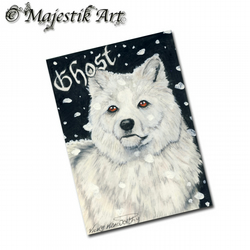 ACEO Print Wolf Animal Wildlife GHOST