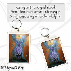 Deer Keyring PURPLE HAZE Wildlife