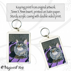 Cat Keyring TOO COSY Maine Coon