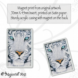 White Tiger Magnet OPAQUE Wildlife VK