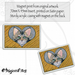 Maine Coon Magnet LOVE STUCK Animal VK