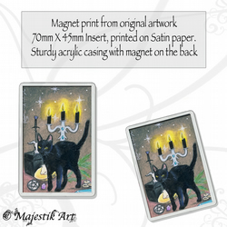 Black Cat Magnet MAGIC Wicca VK