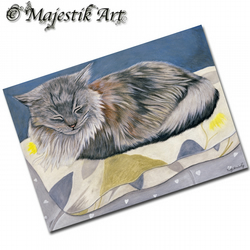 ACEO Print Maine Coon SLEEP IN