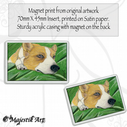 Corgi Magnet REST Dog VK