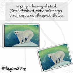 Polar Bear Magnet SHOOTING STAR Wildlife VK