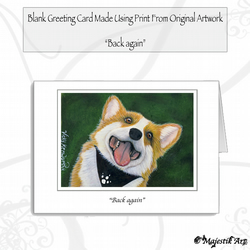 Greeting Card BACK AGAIN Corgi