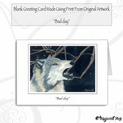Greeting Card BAD DAY Wolf