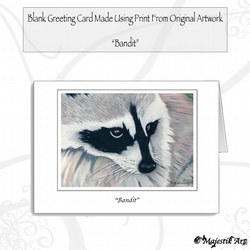 Greeting Card BANDIT Raccoon