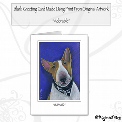 Greeting Card ADORABLE Bull Terrier