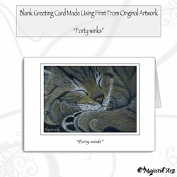Greeting Card FORTY WINKS Cat
